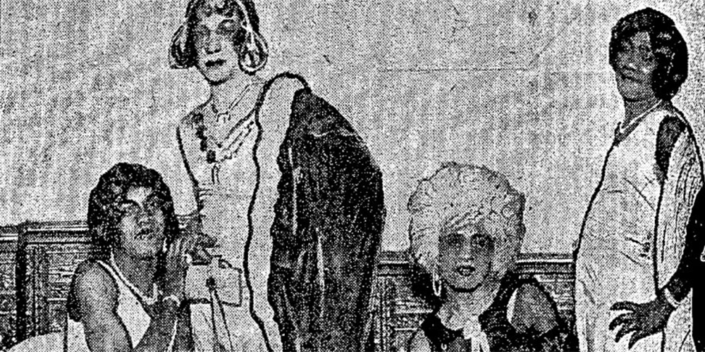 newspaper photo of historical ballroom performers